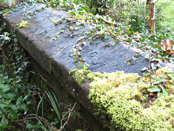 Carved graffiti on stone coping, Birdsall, Yorkshire