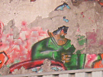 Graffiti in an unused garage on Penley Grove St, York, Dec 2010