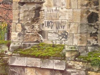 Graffiti on St Leonard's Hospital