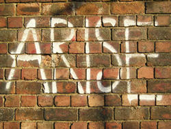 Cinder Lane graffiti – 'ARISE', September 2004