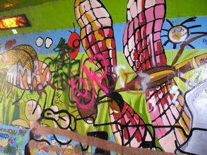 Graffiti, Foss-side, 24 October 2004