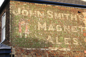 Wall ad for John Smith's Magnet Ales