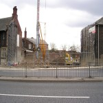 4 April 2008: Peasholme Centre site … and shop doorways, 2016