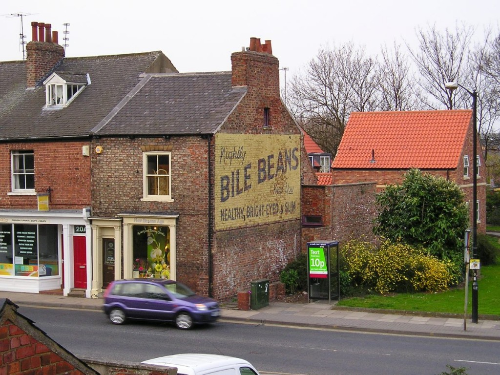 The 'Bile Beans' ad, viewed from the city walls, 12 April 2007