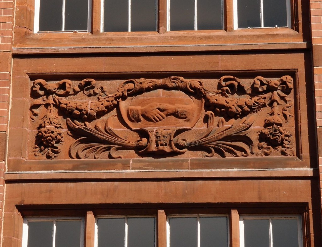 Co-op building, detail, George Hudson St, 19 April 2016