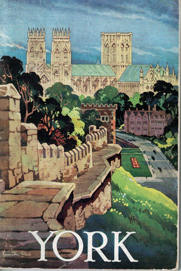 Illustration showing York Minster and the walls