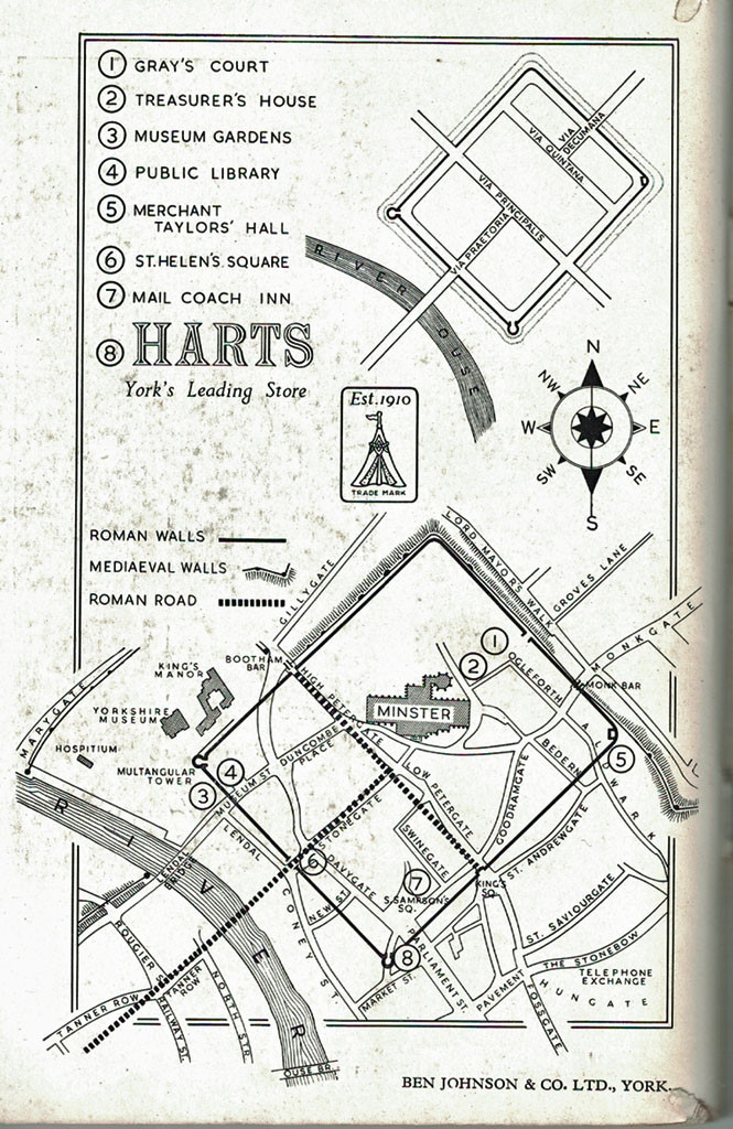 1961 York guide: advert for Harts store