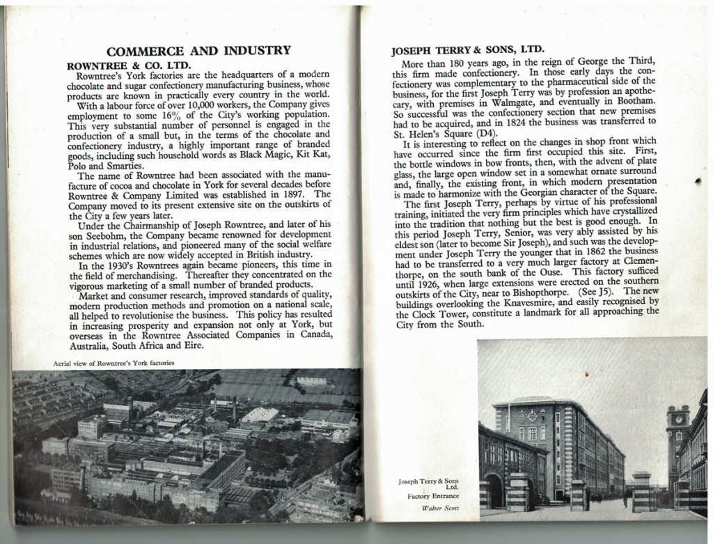 1961 York guide: Rowntree and Co and Terry and Sons