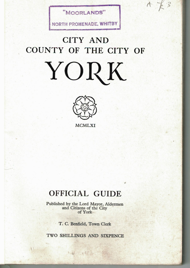Title page of the 1961 York guide