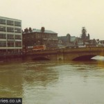 River Ouse in flood, 1978