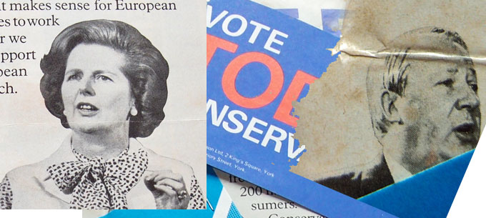 Montage - Conservative Party election leaflets, 1979