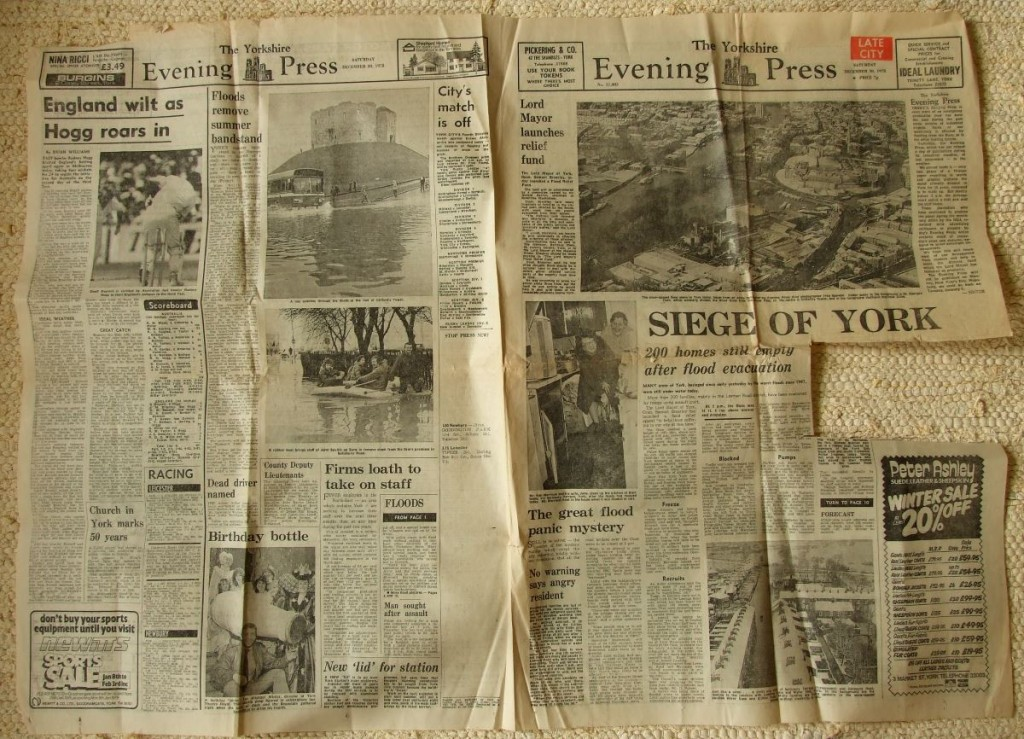 Yorkshire Evening Press, 30 Dec 1978: SIEGE OF YORK reports on severe floods