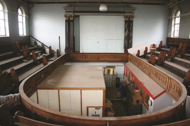 Interior of 19th century chapel, gallery