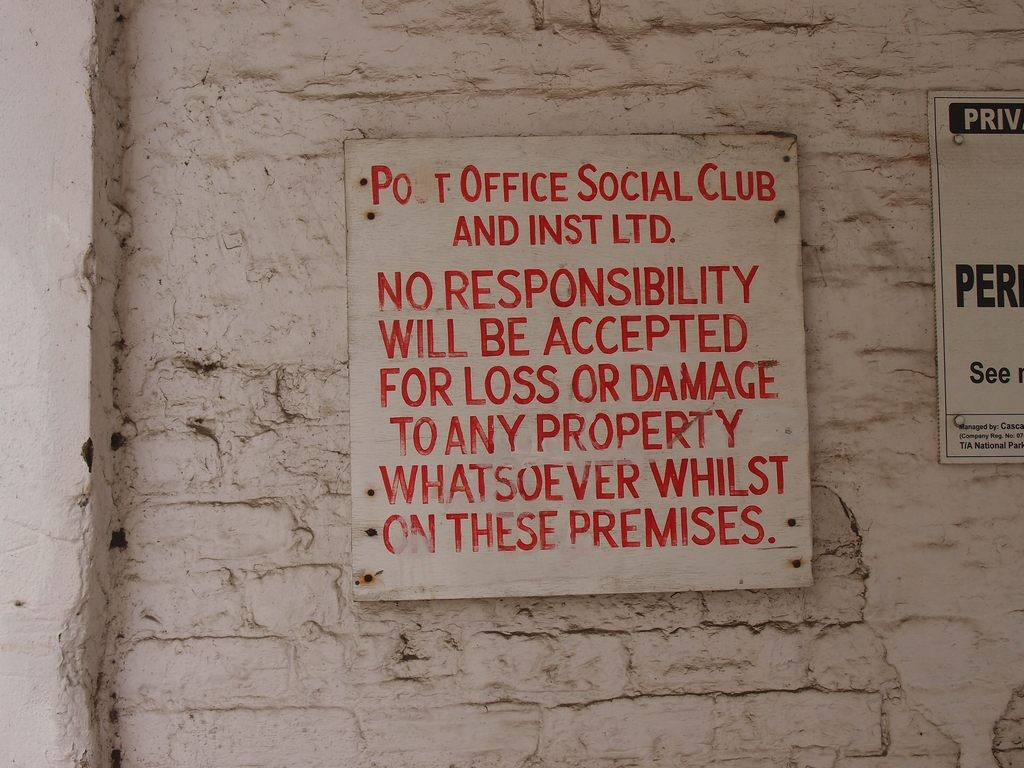 Sign in passageway, Post Office Social Club, Marygate, 21 Feb 2018