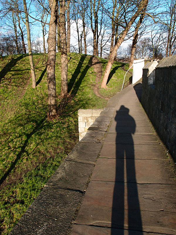 Baile Hill and city walls, 21 Feb 2014