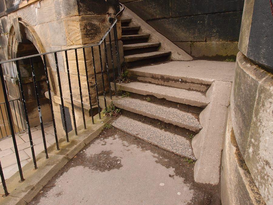 Steps to Scarborough Bridge, 13 March 2018