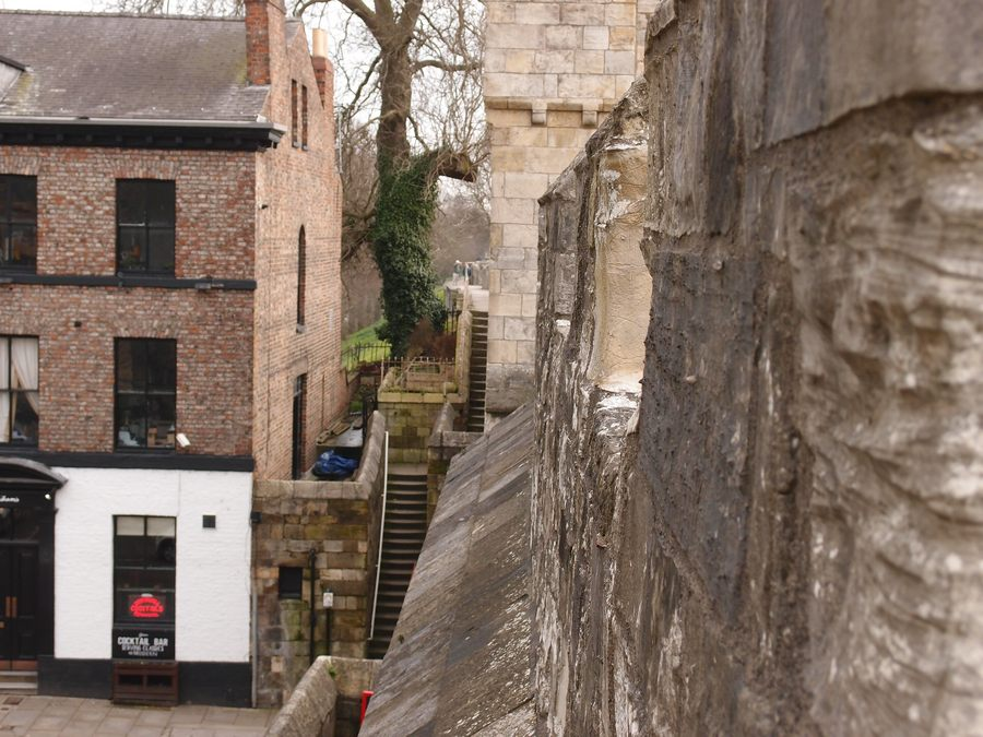 On the walls, by Micklegate Bar, 13 March 2018