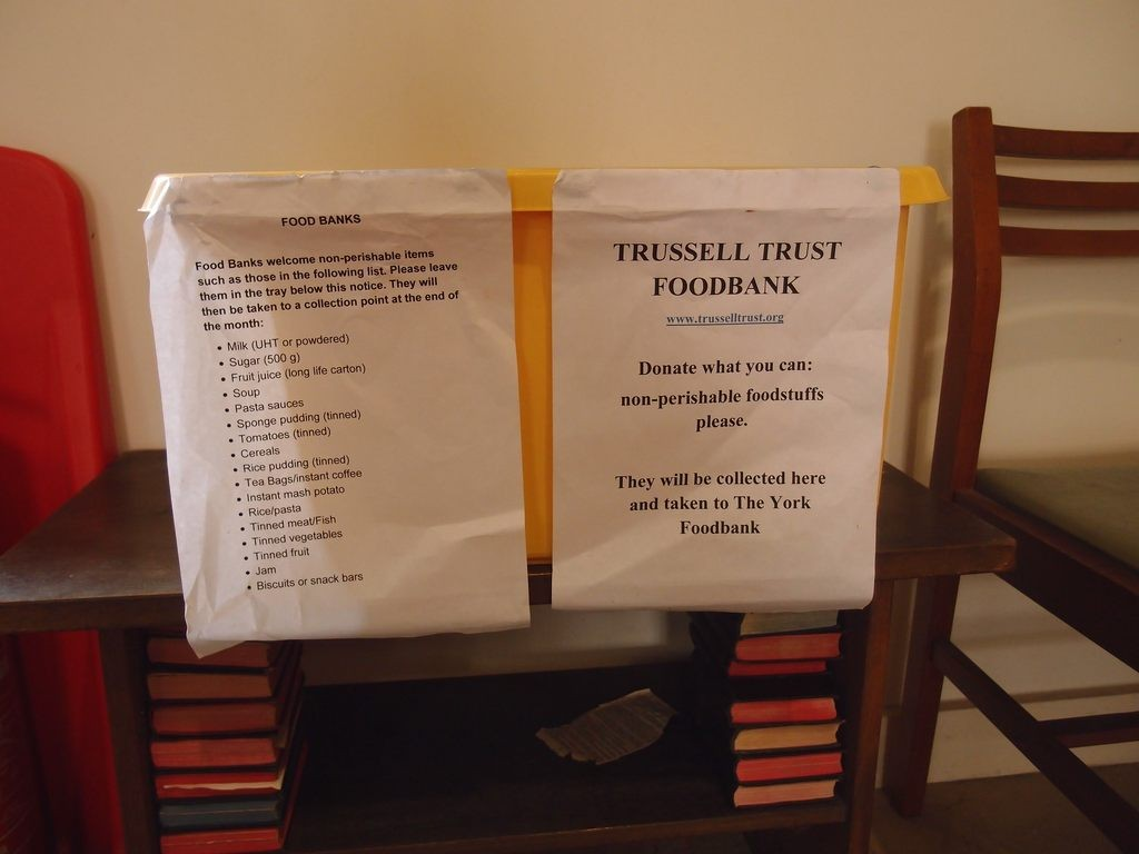 Foodbank collection in St Mary's church, Bishophill, 13 March 2018
