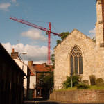 Cranes over Walmgate, from Dennis St