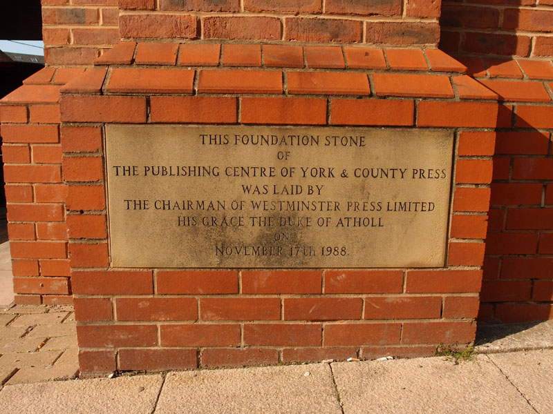 1988 foundation stone