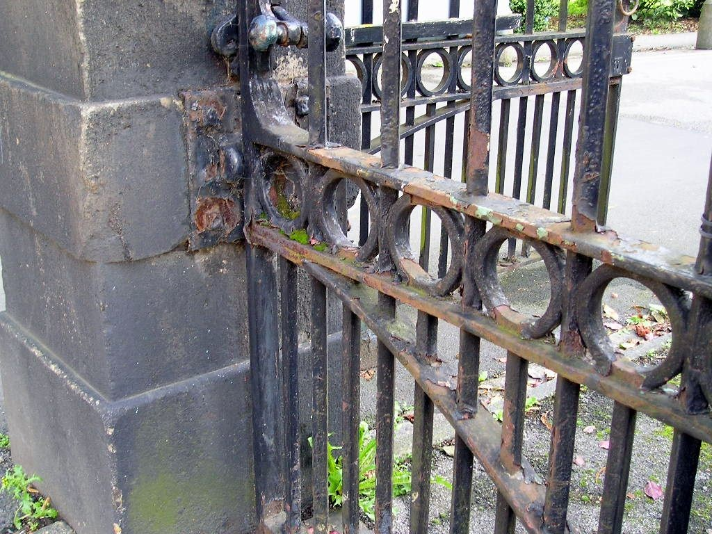 Bootham Park railings and gate, August 2004