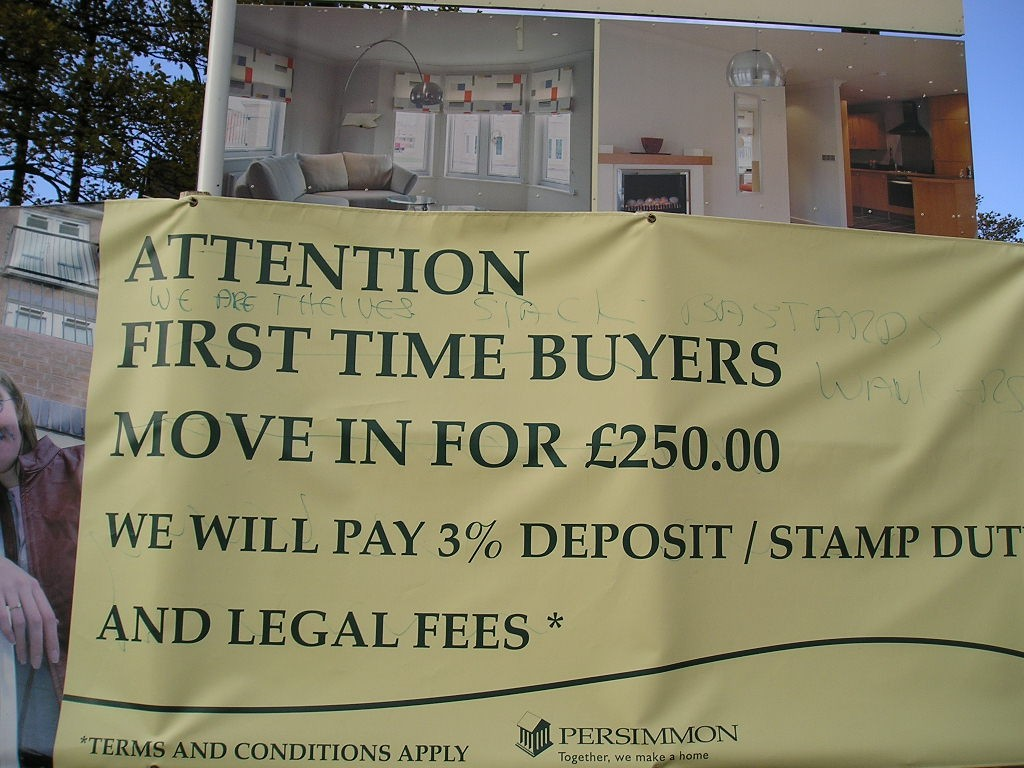 From the archives .. sign on a Persimmon development in the Hull road area, York, Oct 2004
