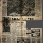 York floods, 1970s, before the defences