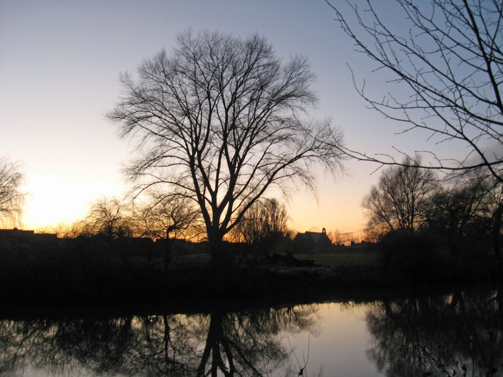 Sunset across the Ouse, 31 Dec 2020