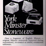 Cigarette lighters made from York Minster fragments, 1970s