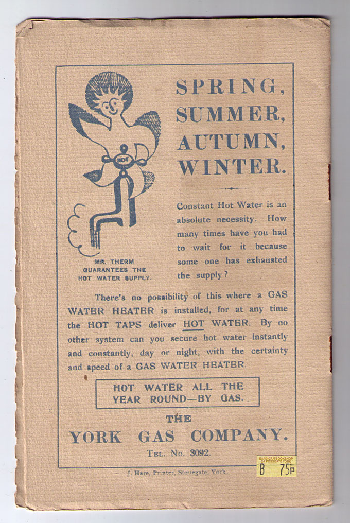 1930s advertisement for gas water heaters