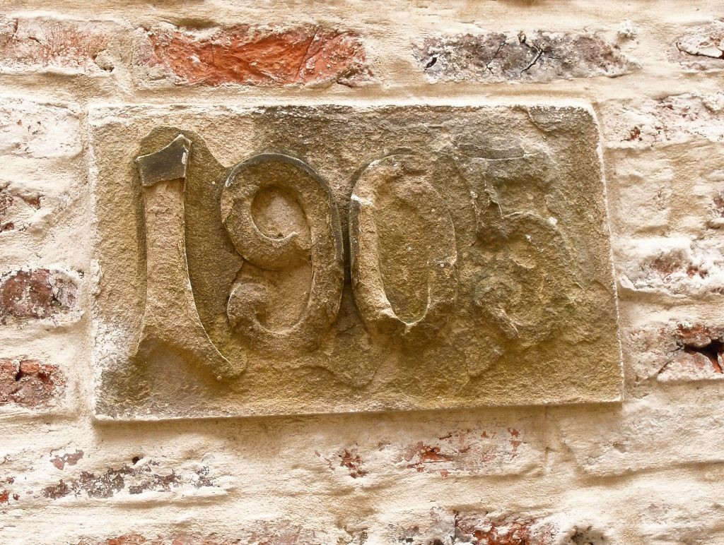 '1905', mysterious marker appears in 2016 in boundary wall off St Andrewgate