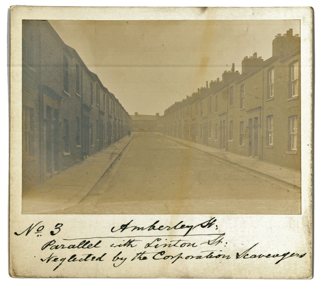 Terraced street, old photo (circa 1913)