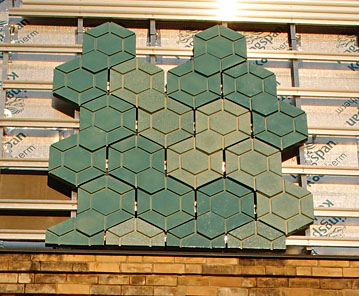 Tiles on art gallery exterior, 28 Dec 2014
