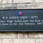 Marked with a plaque: Woolman and Auden