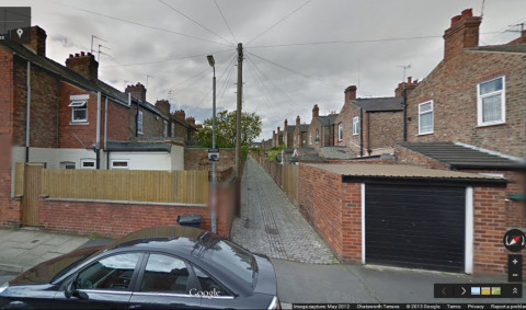 View of back alley in York, 2012 (Google)