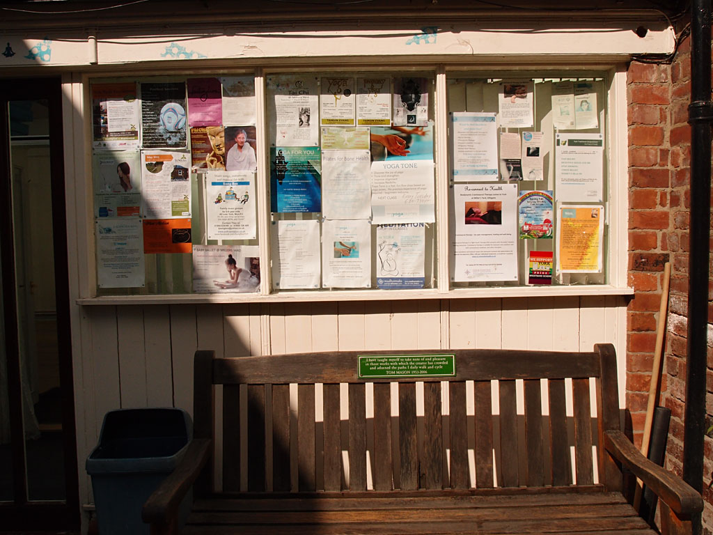 Tom Mason's bench in Millers Yard