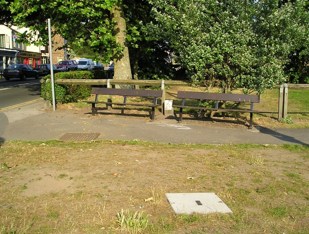Benches by Acomb Green, 3 July 2006