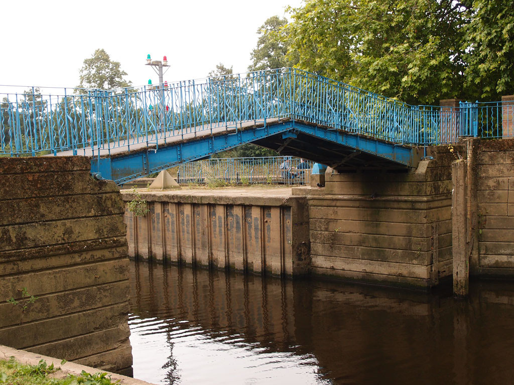 Blue Bridge, over the Foss by the confluence with the Ouse