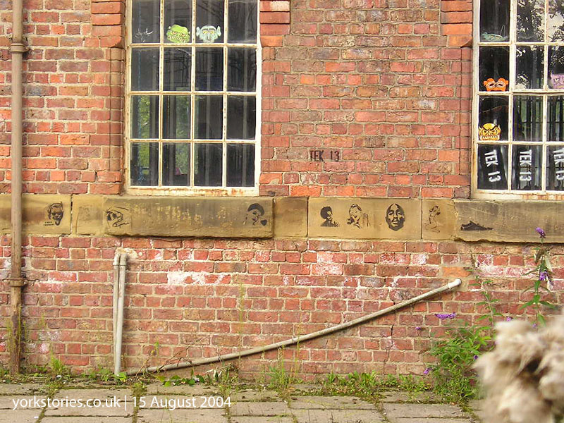 Graffiti on Victorian warehouse building