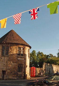 Bunting on Bootham, June 2014