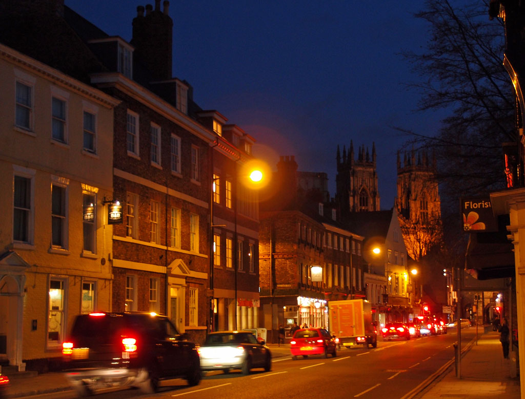 Bootham at dusk, 21 Dec 2014