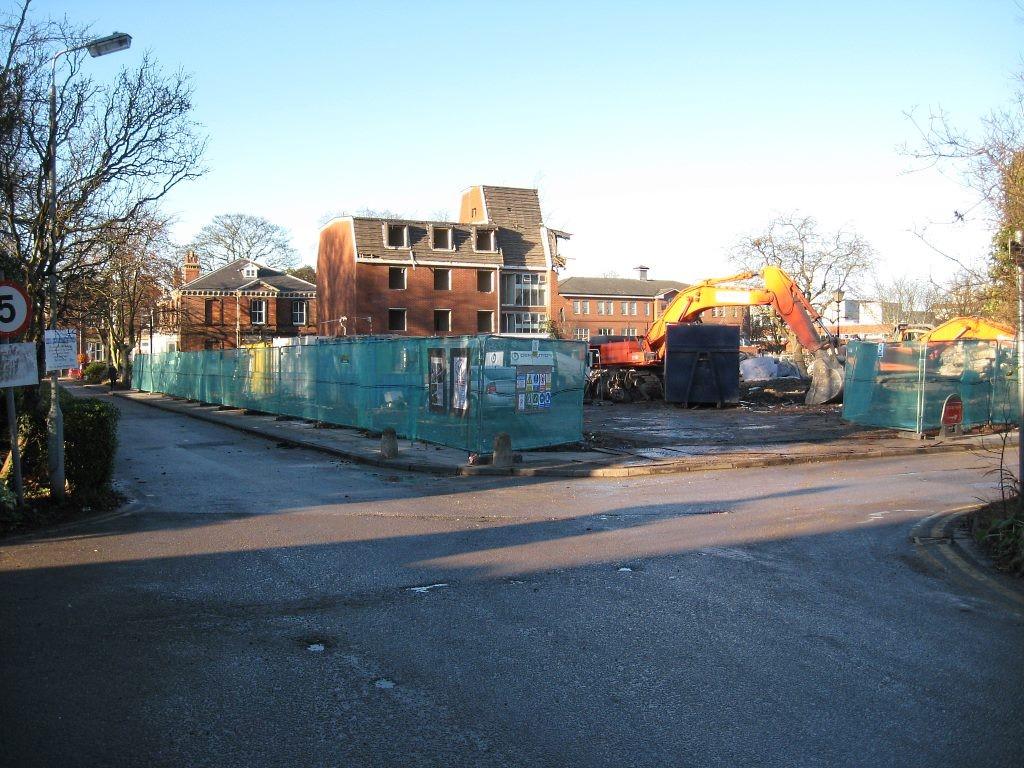 Bootham Park Court demolition, 7 Dec 2012