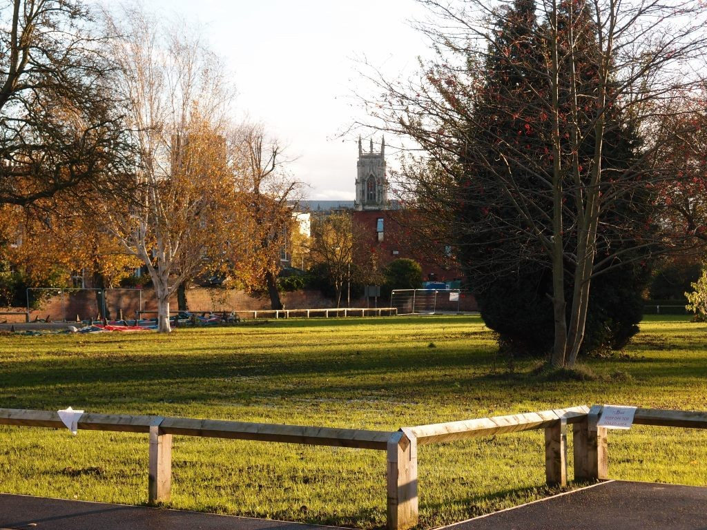 Across the Bootham Park Court site, 7 Nov 2015