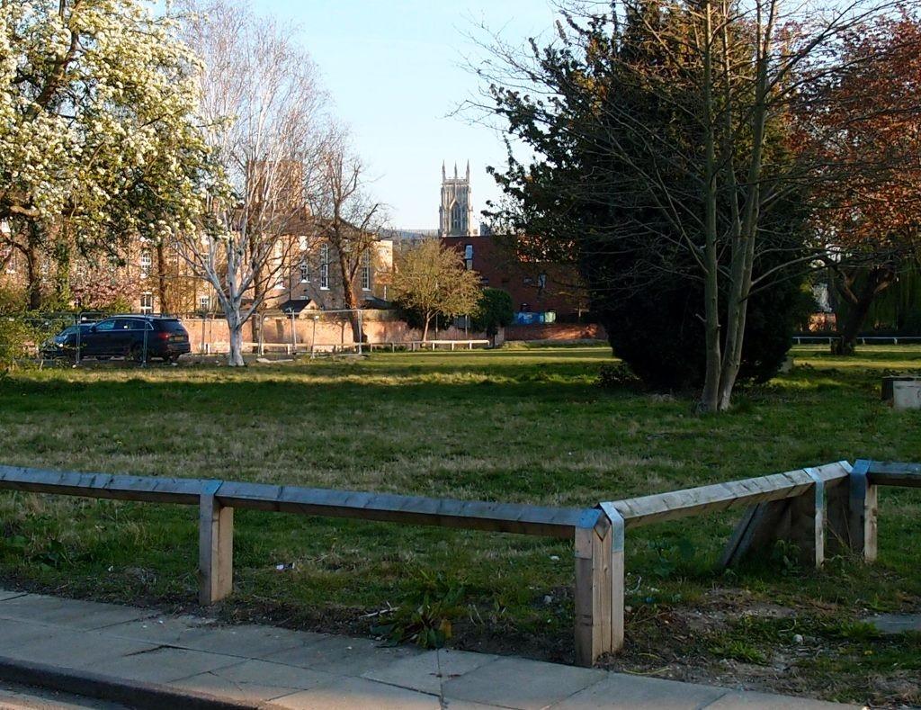 Across the Bootham Park Court site, 23 April 2015