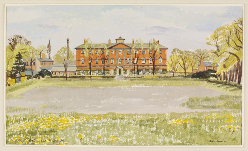 Painting of 18th century hospital
