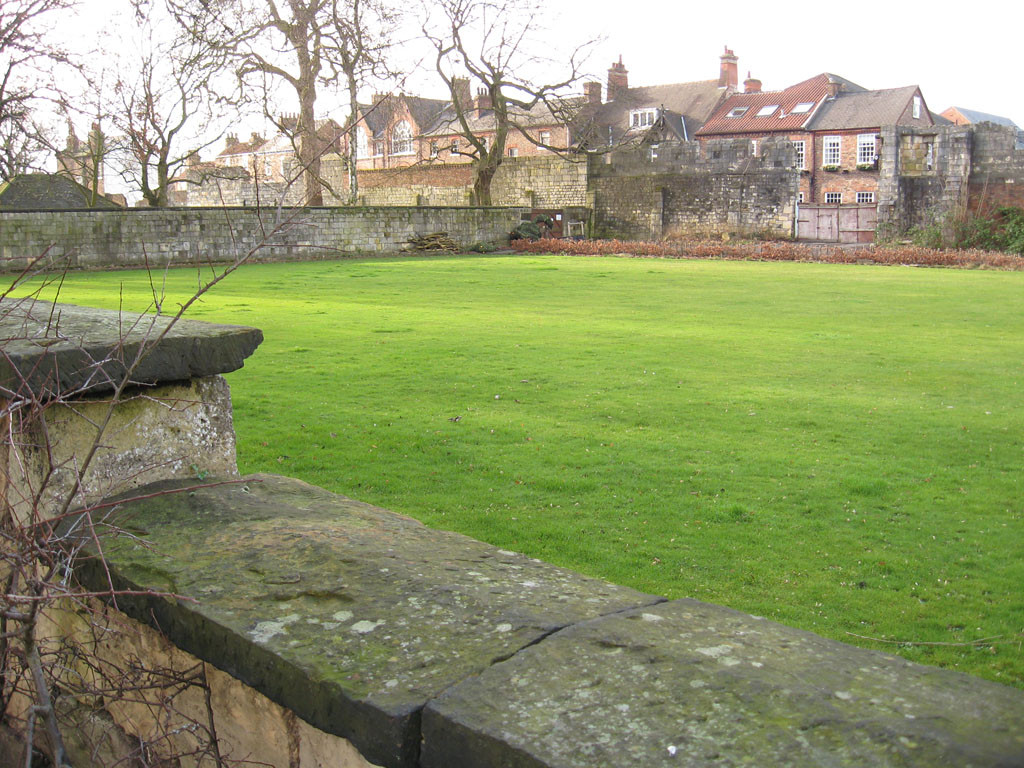 View across the bowling green, later edible wood, 9 Feb 2013