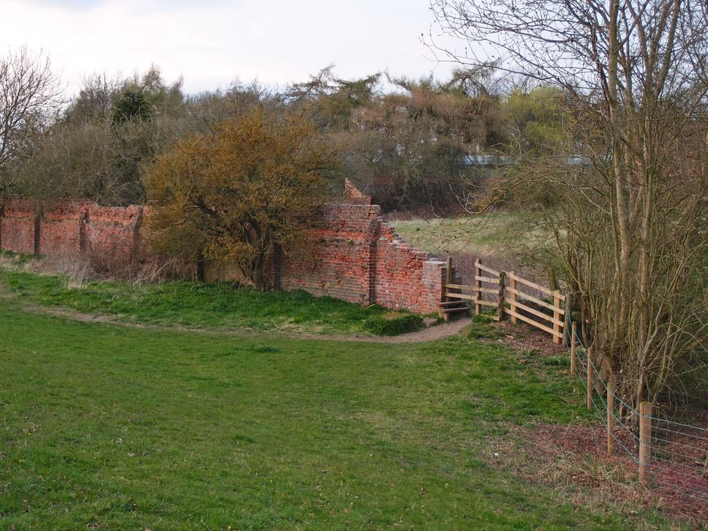 19th century brick wall, former boundary to Clifton Park Hospital