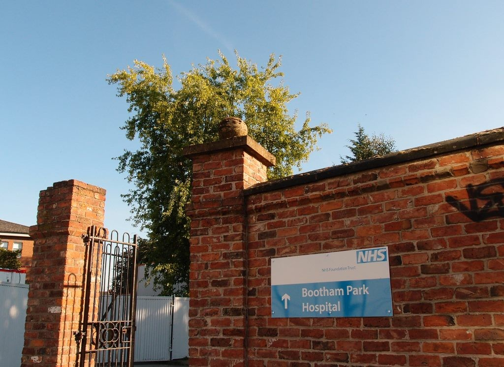 Bridge Lane entrance to Bootham Park Hospital