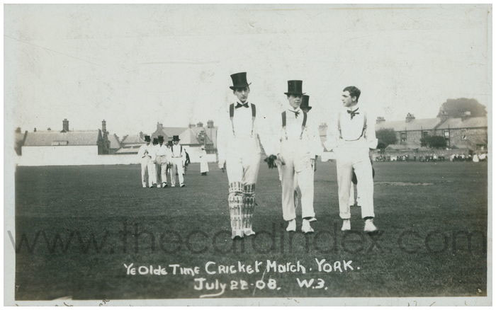 Old photo of cricketers