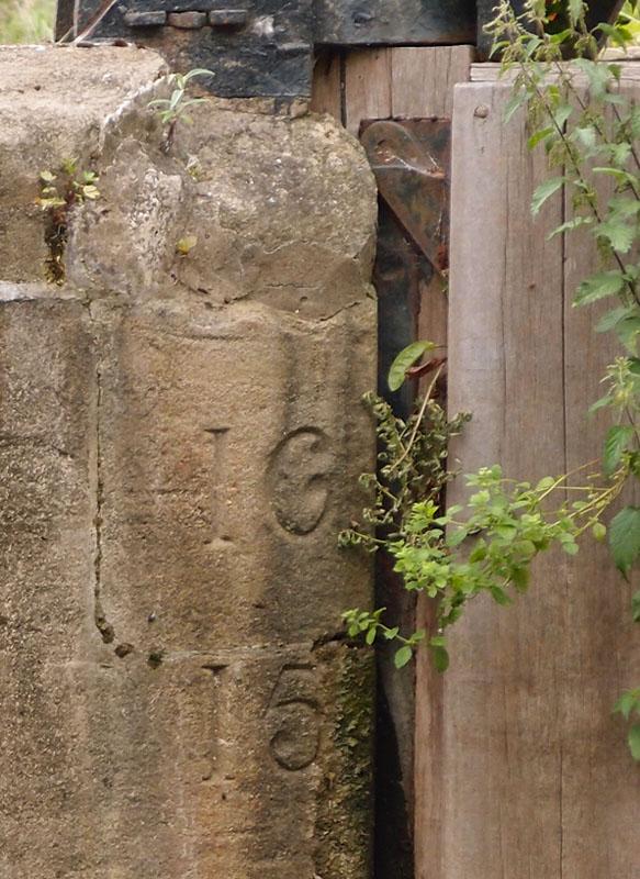 Castle Mills lock, detail, 19 July 2017